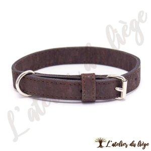collier pour chien en liege marron