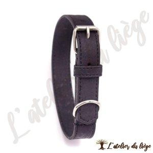 collier pour chien en liege noir
