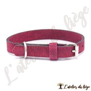 collier pour chien en liege rouge