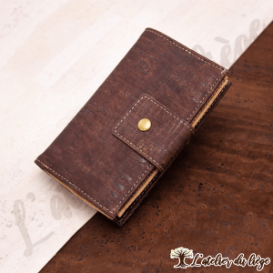 portefeuille en liege pour femme marron